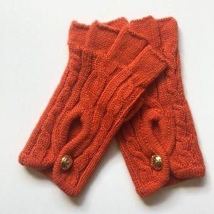 Michael Kors Orange Fingerless Gloves